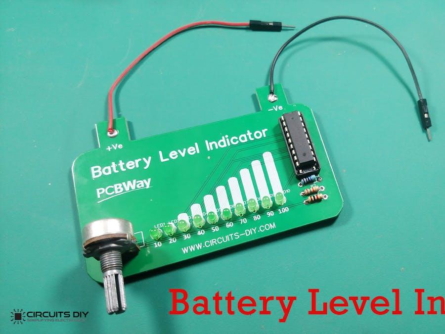 Battery Level Indicator using LM3914