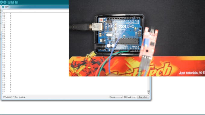 (Click to expand) The values are around 512 which is the middle of the Arduino ADC on standby mode