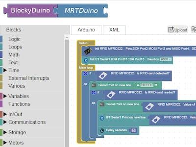 Blocklyduino for MRTduino