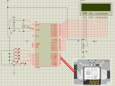 Voting Machine using 8051 and bolt wifi module