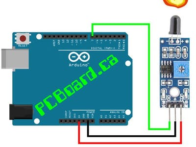 Flame sensor with arduino