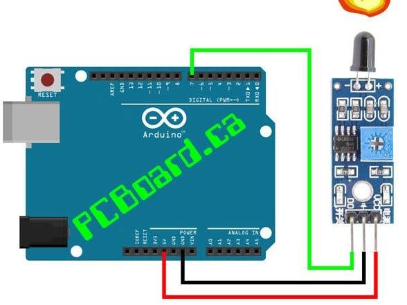 Flame sensor with arduino