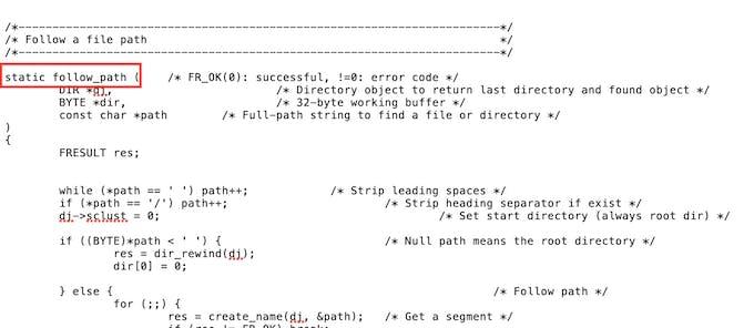 Missing return type in function declaration