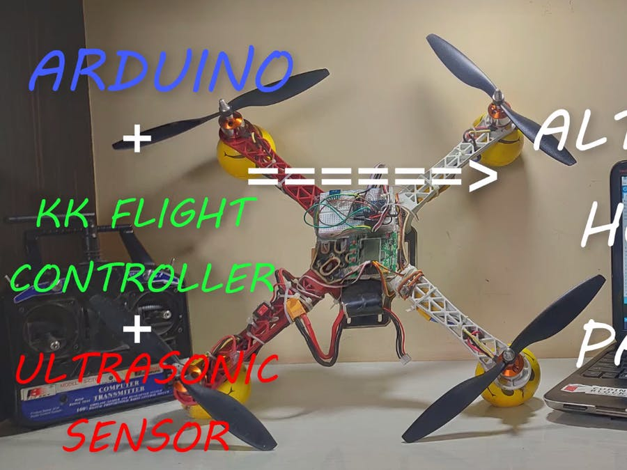 Drone Altitude Hold Using KK Flight Controller and Arduino
