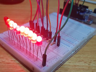 9 LED Patterns with Arduino