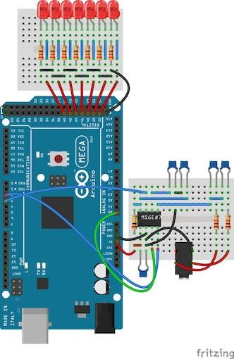 LEDs as digital outputs