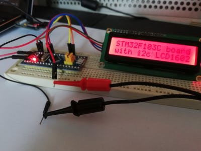 i2c LC1602 display drived by STM32F103