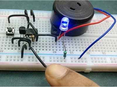 Latching Touch Sensitive Alarm Electronic Circuit
