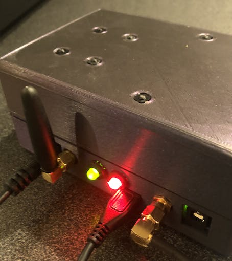 """Final enclosure - """"big"""" top casing with lots of room for cables."""
