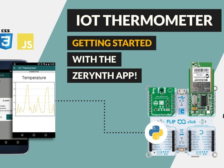 Iot thermometer using python