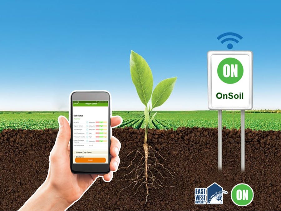 BLE based Remote Soil Monitoring System