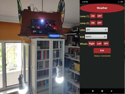 Bluetooth Mobile Remote Lamp with Weather Station