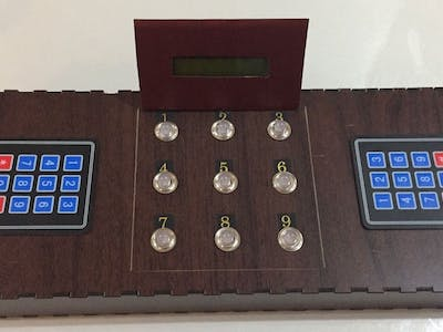 Electronic Tic-Tac-Toe Game in a Wood Box