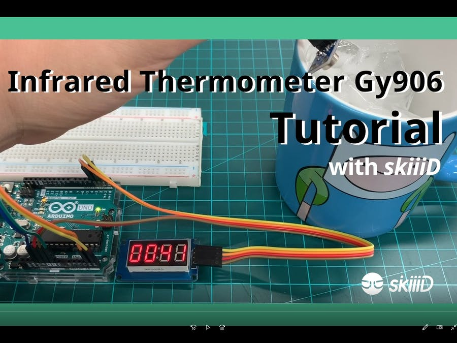 How to use Infrared Thermometer GY906 with skiiiD