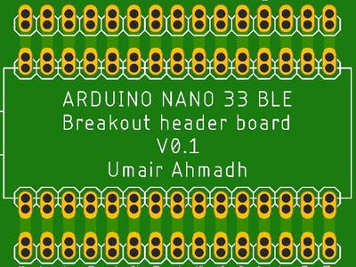 Arduino Nano BLE Breakout Board