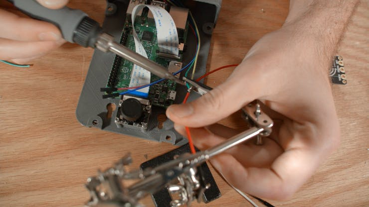 Soldering the power wires