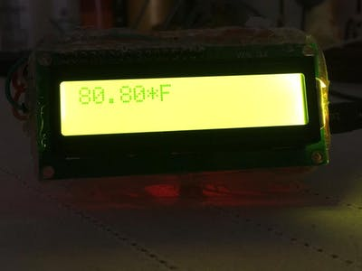 DIY IR Contact Less Thermometer an IOT device