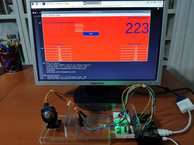 Raspberry Pi Adjustable Air Quality Detector Running on GUI