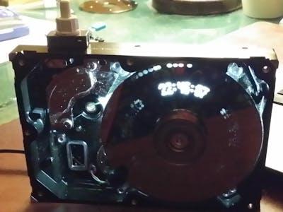 Arduino Uno / ATMega328p recyled 5'1/4 HDD Nipkow disc clock
