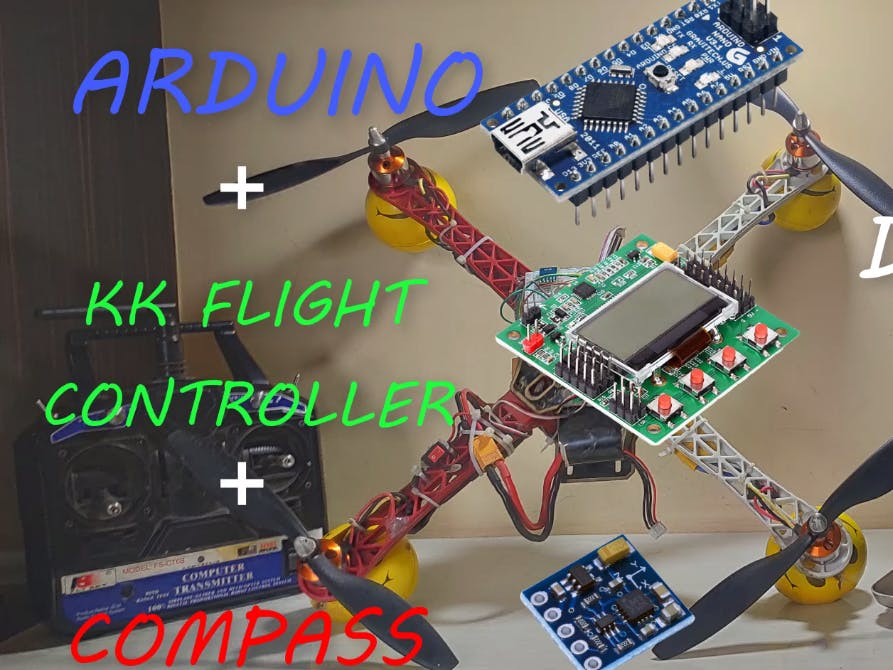 Direction_Control using KK flight controller & Arduino