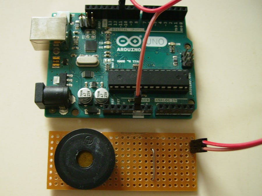 DC piezo buzzer volume control