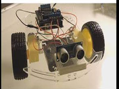 Obstacle avoiding car using l293d motor driver shield