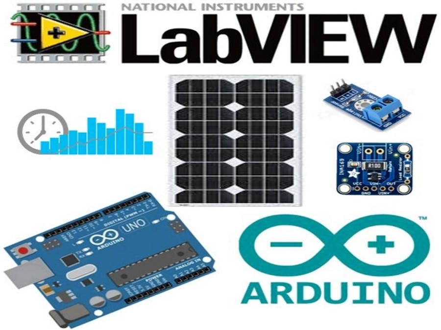 Solar Panel Data Monitoring using Arduino and LabView