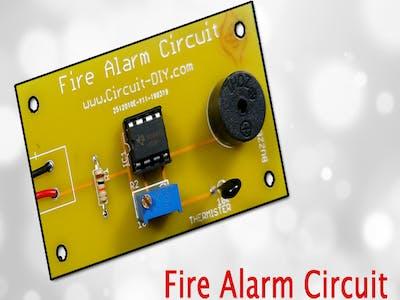 Fire Alarm Circuit using LM358
