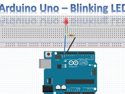 Blinking LED with Arduino uno