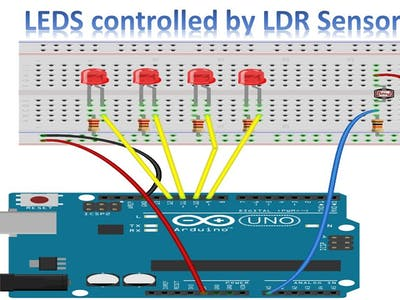 Arduino Tutorial - Controlling LEDS with LDR Sensor