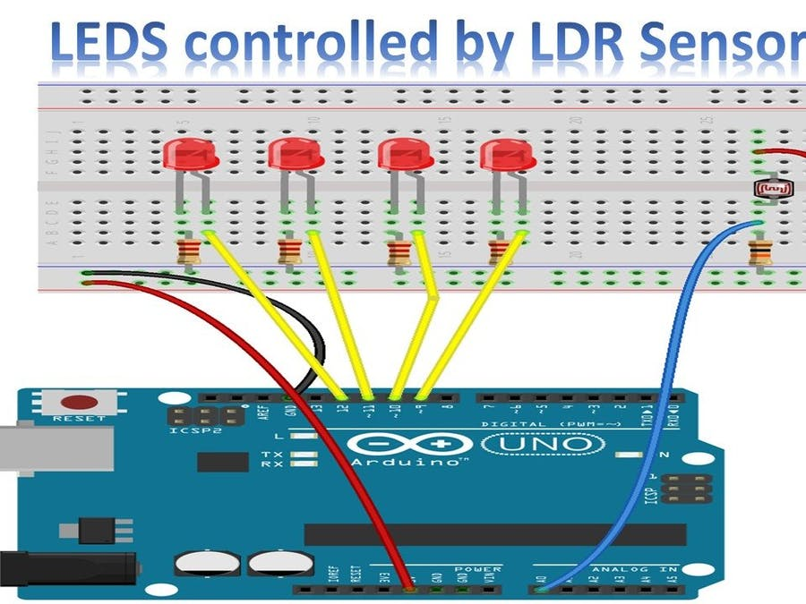 Arduino Tutorial - Controlling LEDS with LDR Sensor