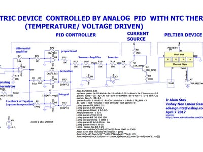LTspice for PID control of a Thermoelectric Cooling Element