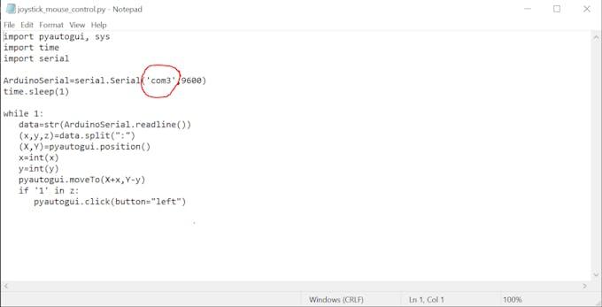 (Fig 2)Specify the Same com port