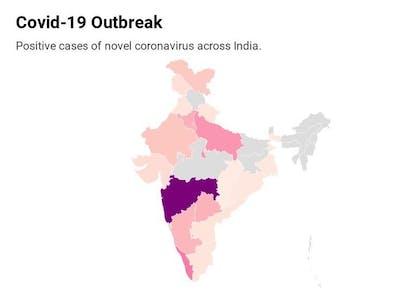 Coronavirus - India cases tracker