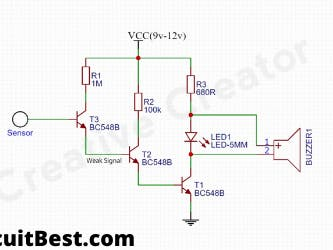 Non Contact AC Voltage Detector Circuit Diagram