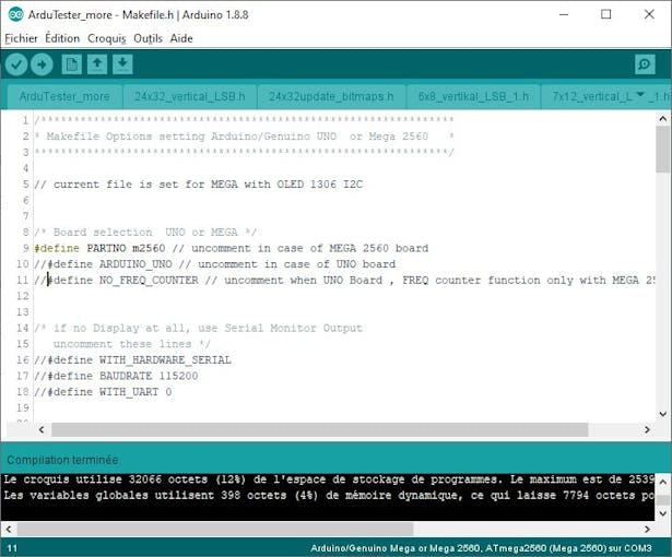 Makefile.h entries for MEGA & I2C  LCD 1602  16 X 2