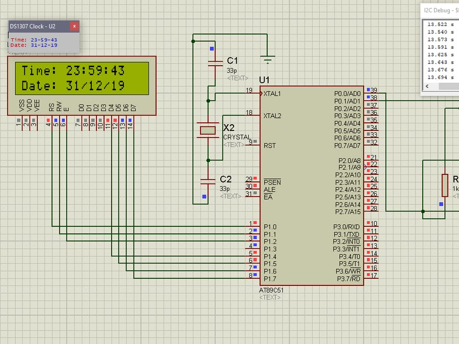8051 Interfacing With DS1307 RTC