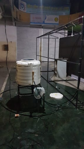 Water Tank With Water Pump