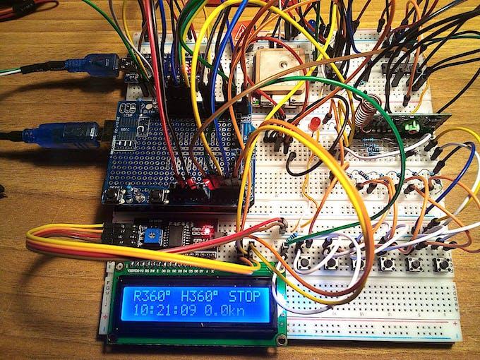 """Autopilot proto board circuitry """"live"""" (for more pictures press """">"""")"""