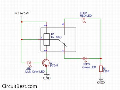 LED Flasher Circuit with Relay