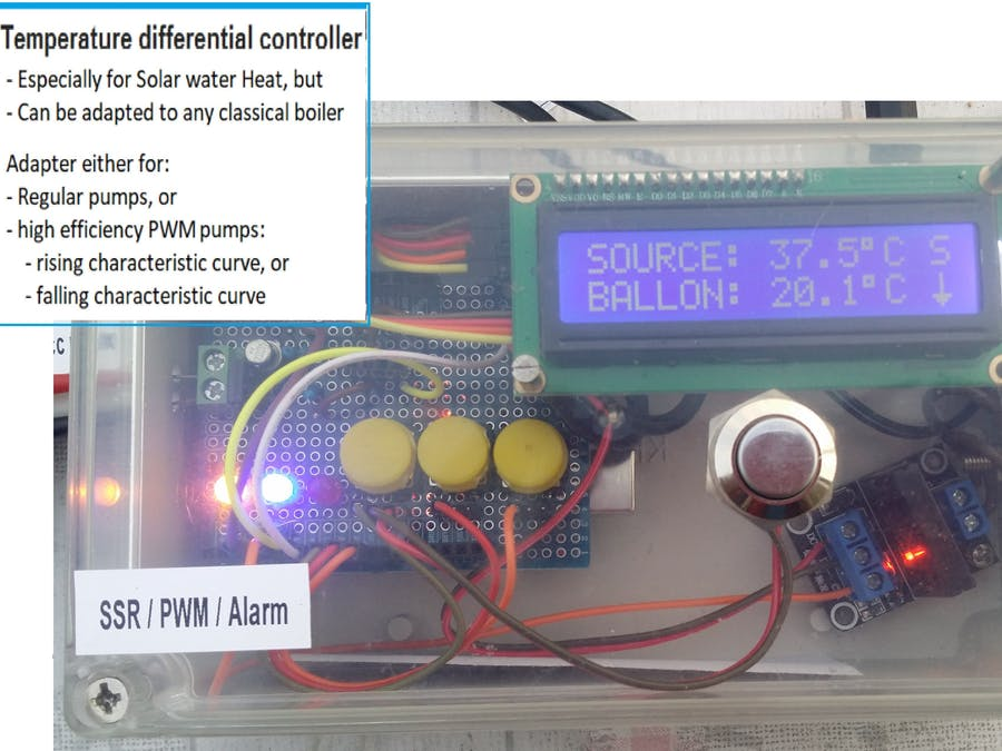 Arduino Uno Water Heater Thermostat for PWM Pumps