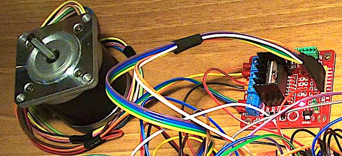 Stepper Motor and Keyes L298 controller.