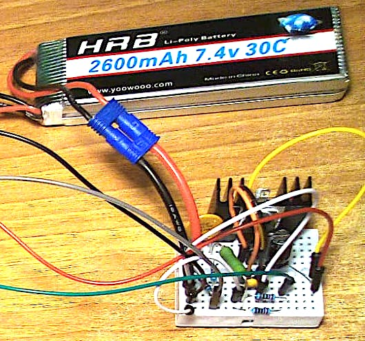 Battery and power circuit proto board.