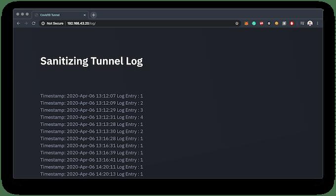 Sanitizing Tunnel Log