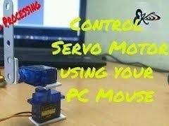 Servo Motor Control Using Arduino and Processing