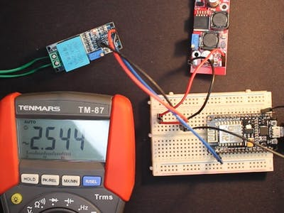 Measure AC voltage with ZMPT101B and ESP8266 12E