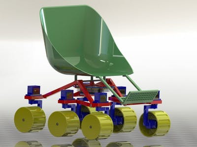 Rocker Bogie Wheelchair Prototype