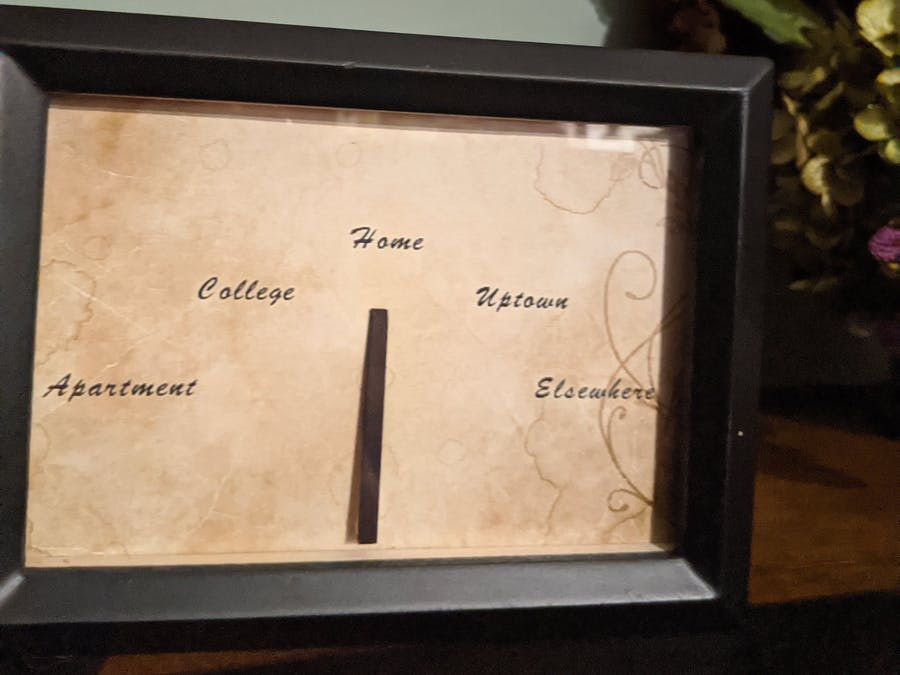 Single Person Weasley Clock