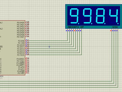 Counting From 0 to 9999 With 8051 Using 7 Segment Display