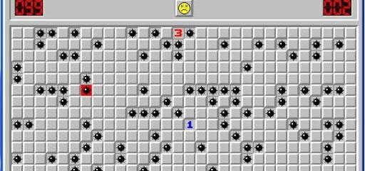 Figure 1 - Minesweeper of the Windows Operating System.